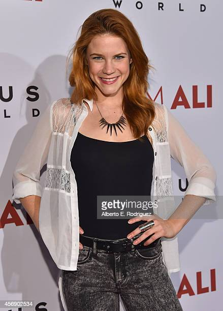 Actress Courtney Hope attends the Los Angeles premiere of Focus World's 'I Am Ali' at ArcLight Cinemas on October 8 2014 in Hollywood California