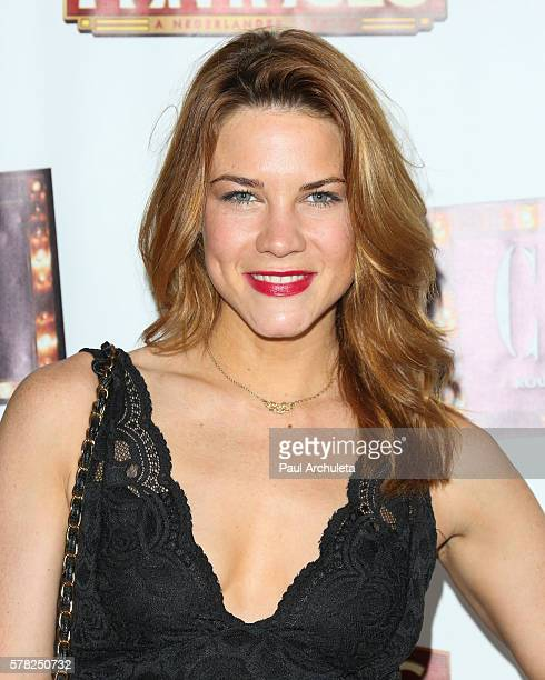 Actress Courtney Hope attends the opening night of 'Cabaret' at The Hollywood Pantages at the Pantages Theatre on July 20 2016 in Hollywood California
