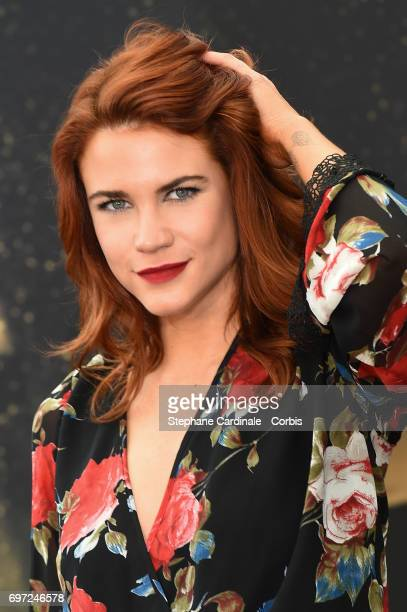 US actress Courtney Hope from 'The Bold And The Beautiful' TV Show poses for a Photocall during the 57th Monte Carlo TV Festival Day Three on June 18...