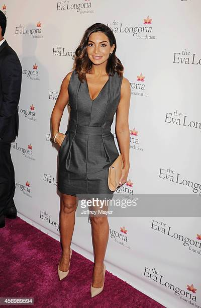 Actress Courtney Laine Mazza attends Eva Longoria's Foundation dinner at Beso on October 9, 2014 in Hollywood, California.
