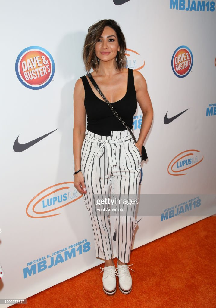 Actress Courtney Laine Mazza attends the 2nd annual MBJAM18 presented by Michael B. Jordan and Lupus LA at Dave & Buster's on July 28, 2018 in Los Angeles, California.