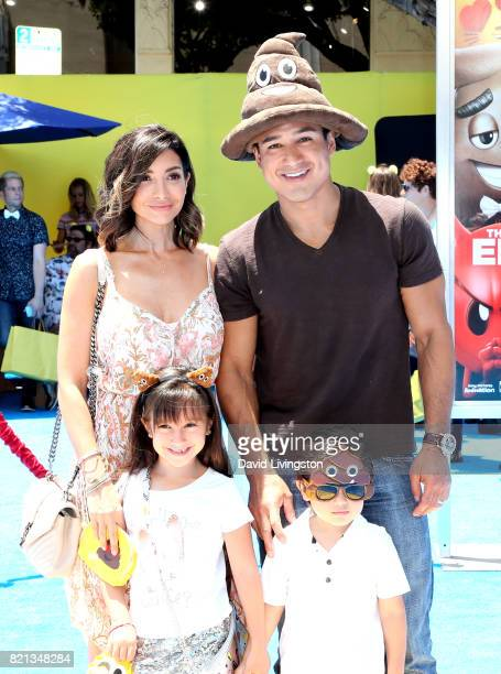 Actress Courtney Laine Mazza, Gia Francesca Lopez, Dominic Lopez and television personality Mario Lopez attend the premiere of Columbia Pictures and...
