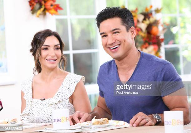 Actress Courtney Lopez and TV Personality Mario Lopez visit Hallmark's Home Family at Universal Studios Hollywood on September 14 2018 in Universal...