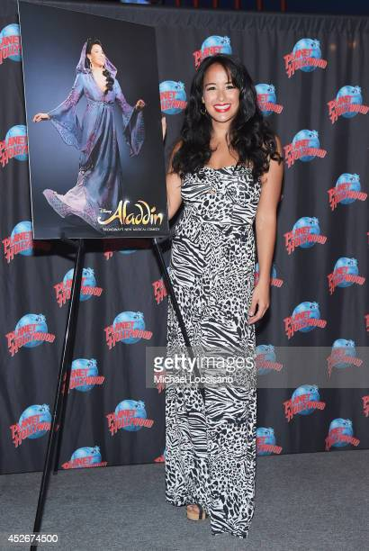 Actress Courtney Reed attends her own Handprint Ceremony at Planet Hollywood Times Square on July 25 2014 in New York City