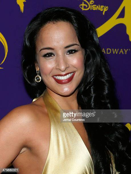Actress Courtney Reed attends the 'Aladdin' On Broadway Opening Night after party at Gotham Hall on March 20 2014 in New York City