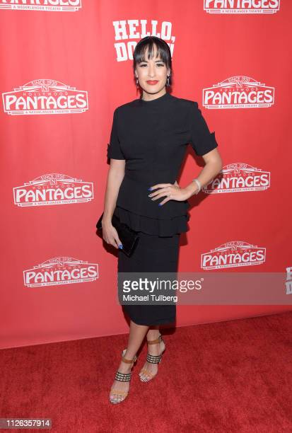 Actress Courtney Reed attends the Los Angeles premiere of the musical Hello Dolly at the Pantages Theatre on January 30 2019 in Hollywood California