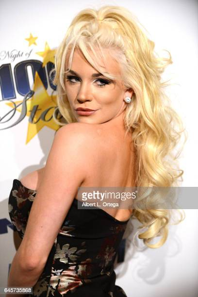 Actress Courtney Stodden arrives for the Norby Walters' 27th Annual Night Of 100 Stars Black Tie Dinner Viewing Gala held at The Beverly Hilton Hotel...