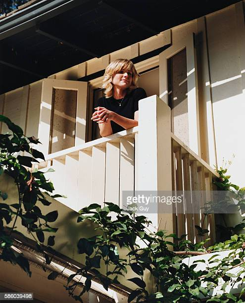 Actress Courtney Thorne-Smith is photographed for InStyle in 2002 at home in Los Angeles, California.