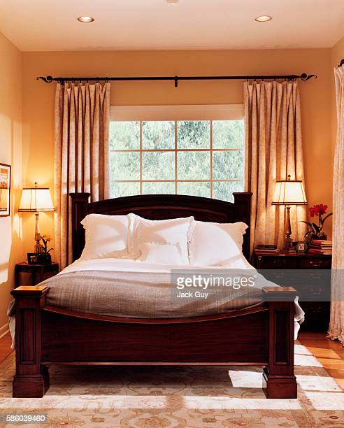 Actress Courtney Thorne-Smith's is photographed for InStyle in 2002 in Los Angeles, California. Thorne-Smith's bedroom. PUBLISHED IMAGE.
