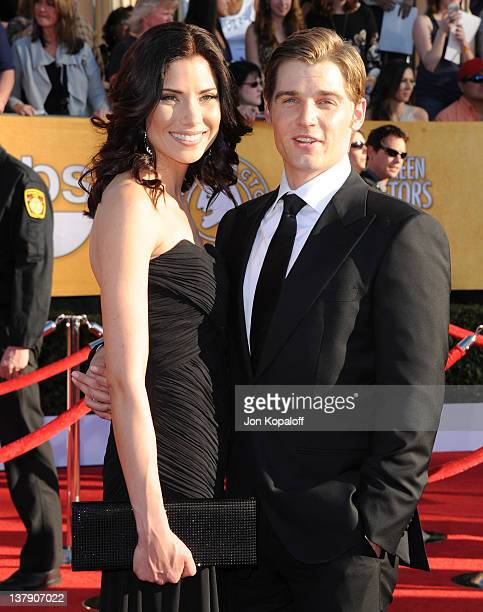 Actress Courtney Vogel and actor Mike Vogel arrive at the 18th Annual Screen Actors Guild Awards held at The Shrine Auditorium on January 29 2012 in...