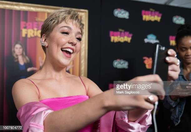 Actress Cozi Zuehlsdorff attends the Freaky Friday New York Premiere at The Beacon Theatre on July 30 2018 in New York City