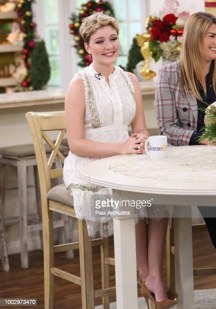 Actress Cozi Zuehlsdorff visits Hallmark's Home Family celebrating 'Christmas In July' at Universal Studios Hollywood on July 20 2018 in Universal...