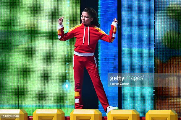 Actress Cree Cicchino performs onstage during Nickelodeon's 2016 Kids' Choice Awards at The Forum on March 12 2016 in Inglewood California