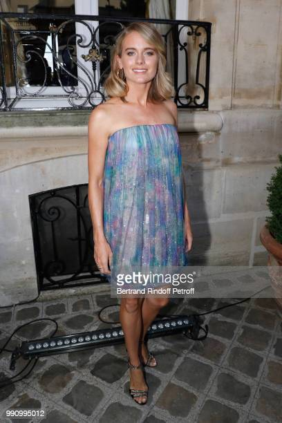 Actress Cressida Bonas attends the Giorgio Armani Prive Haute Couture Fall Winter 2018/2019 show as part of Paris Fashion Week on July 3 2018 in...