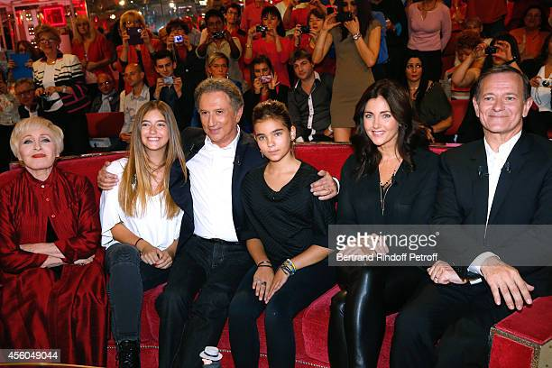 Actress Cristana Reali main guest of the show actor Francis Huster their daughters Elisa and Toscane singer Nicole Croisille and presenter of the...