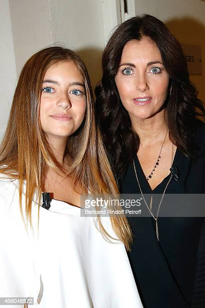 Actress Cristana Reali with her and Francis Huster's holdest daughter Elisa attend the 'Vivement Dimanche' French TV Show at Pavillon Gabriel on...