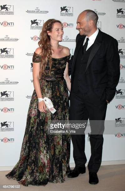 Actress Cristiana Capotondi and Andrea Pezzi attend JaegerLeCoultre Celebrates Emergency's 20th Anniversary during the 71st Venice Film Festival on...