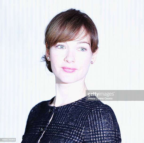 Actress Cristiana Capotondi attends 'Indovina Chi Viene A Natale' photocall on December 13 2013 in Milan Italy