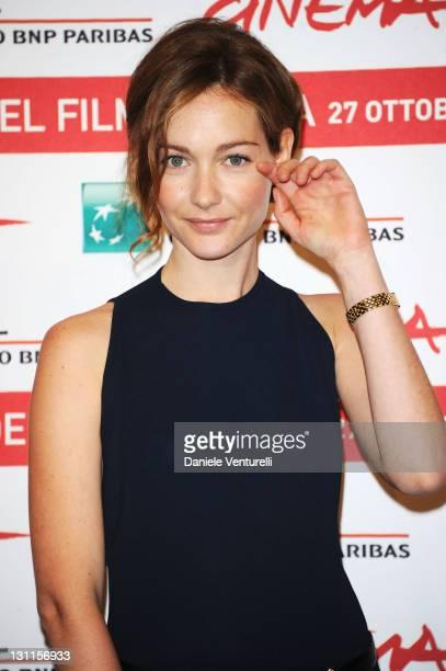 Actress Cristiana Capotondi attends the La Kriptonite Nella Borsa Photocall during the 6th International Rome Film Festival at Auditorium Parco Della...