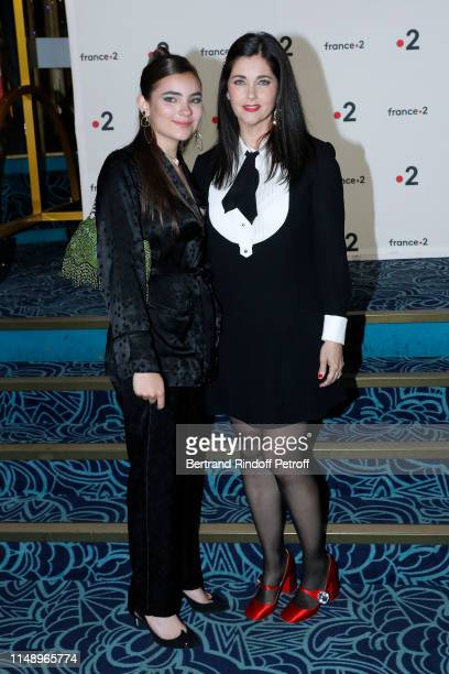 Actress Cristiana Reali and her daugter Toscane Huster attend the 31eme Nuit des Molieres at Les Folies Bergeres on May 13 2019 in Paris France
