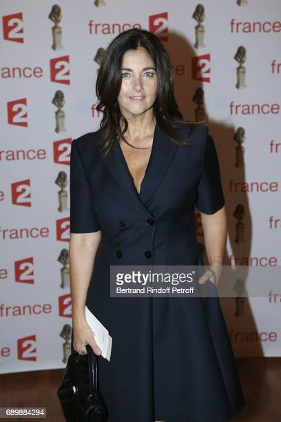 """Actress Cristiana Reali attends """"La Nuit des Molieres 2017"""" at Folies Bergeres on May 29, 2017 in Paris, France."""