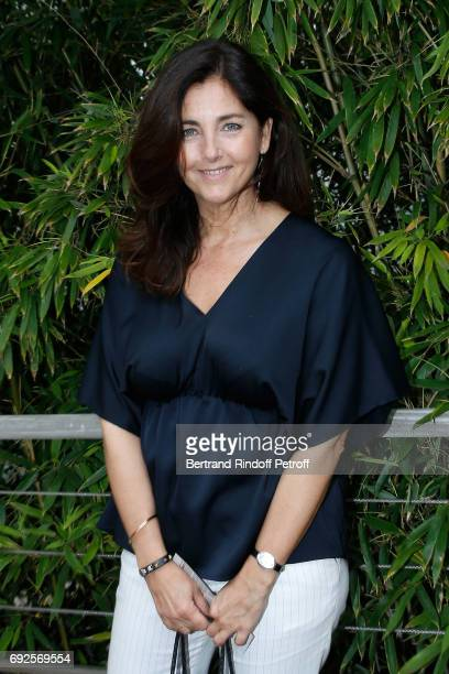 Actress Cristiana Reali attends the 2017 French Tennis Open - Day Height at Roland Garros on June 4, 2017 in Paris, France.