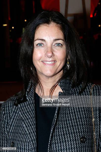 Actress Cristiana Reali attends the Concert of 'Chico The Gypsies' with 50 gypsy guitars at L'Olympia on April 14 2014 in Paris France