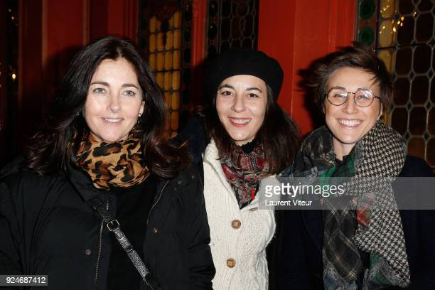 """Actress Cristiana Reali, guest and Actress Noemie Caillault attend """"L'Evenement"""" Theater Play during 'Paroles Citoyennes' 10 shows to wonder about..."""