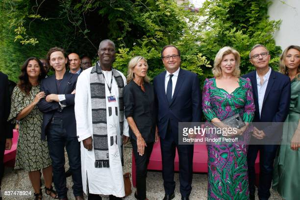 Actress Cristiana Reali singer Raphael Minister of Culture of 'Cote d'Ivoire' Maurice Kouakou Bandaman journalist Claire Chazal Former French...