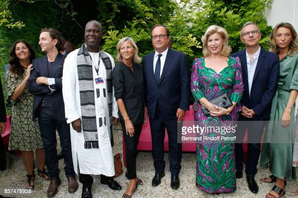 Actress Cristiana Reali singer Raphael Minister of Culture of Cote d'Ivoire Maurice Kouakou Bandaman journalist Claire Chazal Former French President...