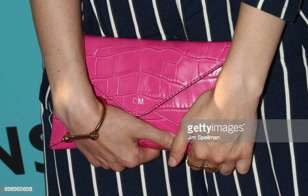 Actress Cristin Milioti bag detail attends The Big Sick New York premiere at The Landmark Sunshine Theater on June 20 2017 in New York City