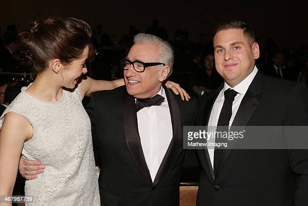 Actress Cristin Milioti director and Cinematic Imagery Award Honoree Martin Scorsese and actor Jonah Hill at the 18th Annual ADG Awards held at The...