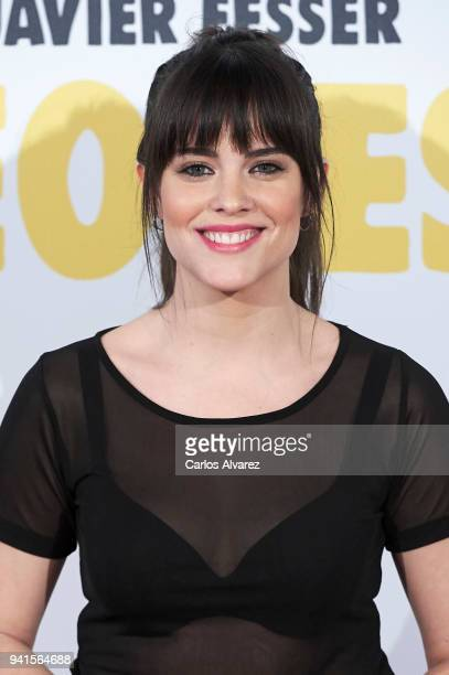Actress Cristina Abad attends 'Campeones' premiere at Kinepolis cinema on April 3 2018 in Madrid Spain