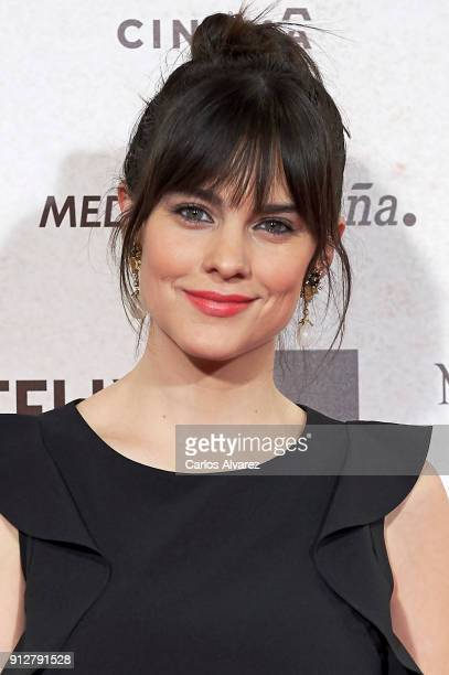 Actress Cristina Abad attends 'El Cuaderno De Sara' premiere at the Capitol cinema on January 31 2018 in Madrid Spain