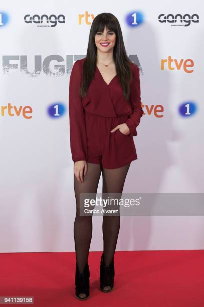Actress Cristina Abad attends 'Fugitiva' Tv Series at the Callao cinema on April 2 2018 in Madrid Spain