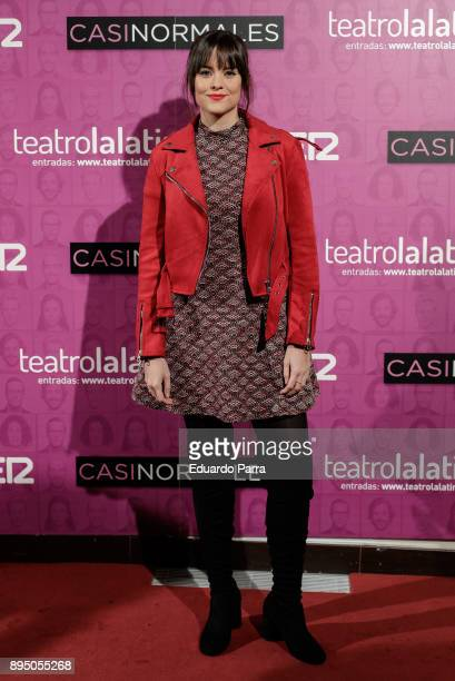 Actress Cristina Abad attends the 'Casi normales' premiere at La Latina theatre on December 18 2017 in Madrid Spain