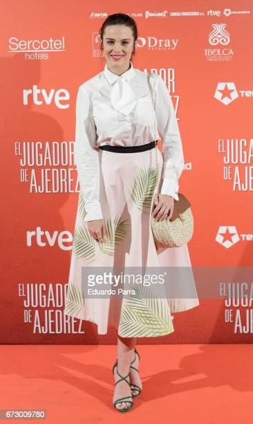 Actress Cristina Abad attends the 'El Jugador de Ajedrez' photocall at Gran Via cinema on April 25 2017 in Madrid Spain