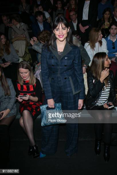Actress Cristina Abad attends the front row of Ionn Fiz and Juana martin shows during Mercedes Benz Fashion Week Madrid Autumn / Winter 2018 at Ifema...