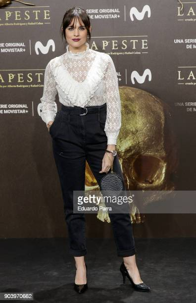 Actress Cristina Abad attends the 'La peste' premiere at Callao cinema on January 11 2018 in Madrid Spain