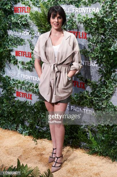 Actress Cristina Abad attends the premiere of 'Triple Frontera' of Netflix in Madrid Spain March 06 2019
