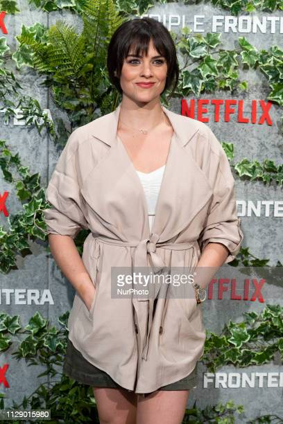 Actress Cristina Abad attends the Triple Frontier premiere at Callao Cinema on March 06 2019 in Madrid Spain