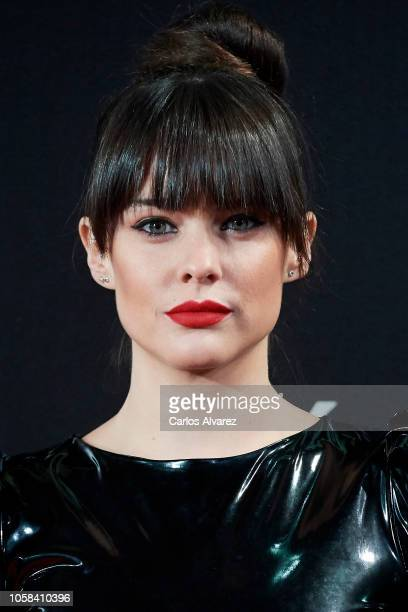 Actress Cristina Abad attends 'YSL Beaute THE SLIM Rouge PurCouture' party at the Santona Palace on November 6 2018 in Madrid Spain