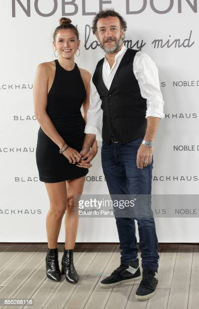 Actress Cristina Alarcon and actor Jose Luis GarciaPerez attend the 'Noble Donkey' photocall at Fox restaurant on September 28 2017 in Madrid Spain