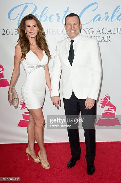 Actress Cristina Bernal and TV personality Alan Tacher attend the 2015 Latin GRAMMY Person of the Year honoring Roberto Carlos at the Mandalay Bay...