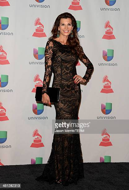 Actress Cristina Bernal poses in the press room at the 14th Annual Latin GRAMMY Awards held at the Mandalay Bay Events Center on November 21 2013 in...