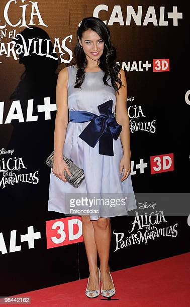Actress Cristina Brondo attends 'Alicia en el Pais de las Maravillas' premiere at Proyecciones Cinema on April 13 2010 in Madrid Spain