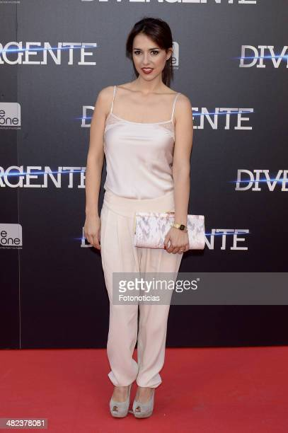 Actress Cristina Brondo attends the 'Divergent' premiere at Callao Cinema on April 3 2014 in Madrid Spain