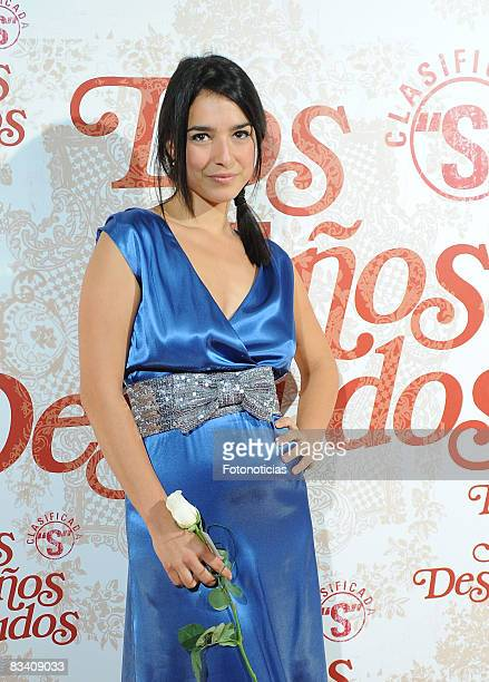 Actress Cristina Brondo attends the 'Los Aos Desnudos' premiere at the Capitol Cinema on October 23 2008 in Madrid Spain