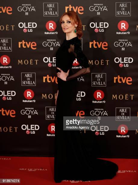 Actress Cristina Castano attends the 32th edition of the Goya Awards ceremony in Madrid Spain on February 04 2018