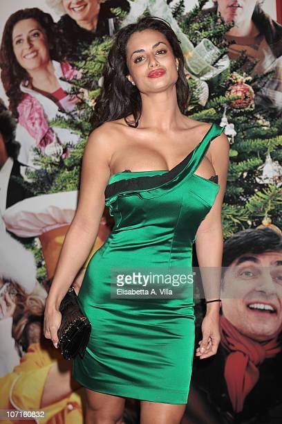 Actress Cristina Del Basso attends A Natale Mi Sposo premiere at the Adriano Cinema on November 26 2010 in Rome Italy
